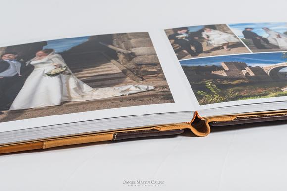 Álbum de fotos, de piel y artesano